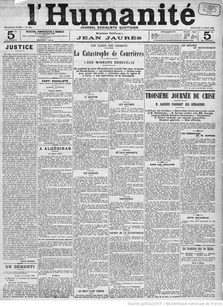 L'Humanité - 11 mars 1906