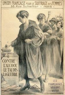 Affiche de l'Union française pour le suffrage des femmes