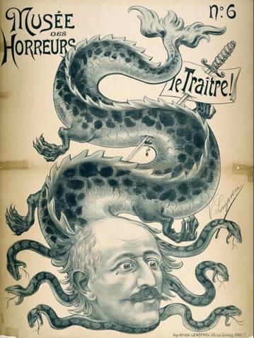 Caricature antisémite représentant Dreyfus.